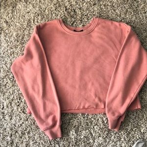 It is a crew neck (used)